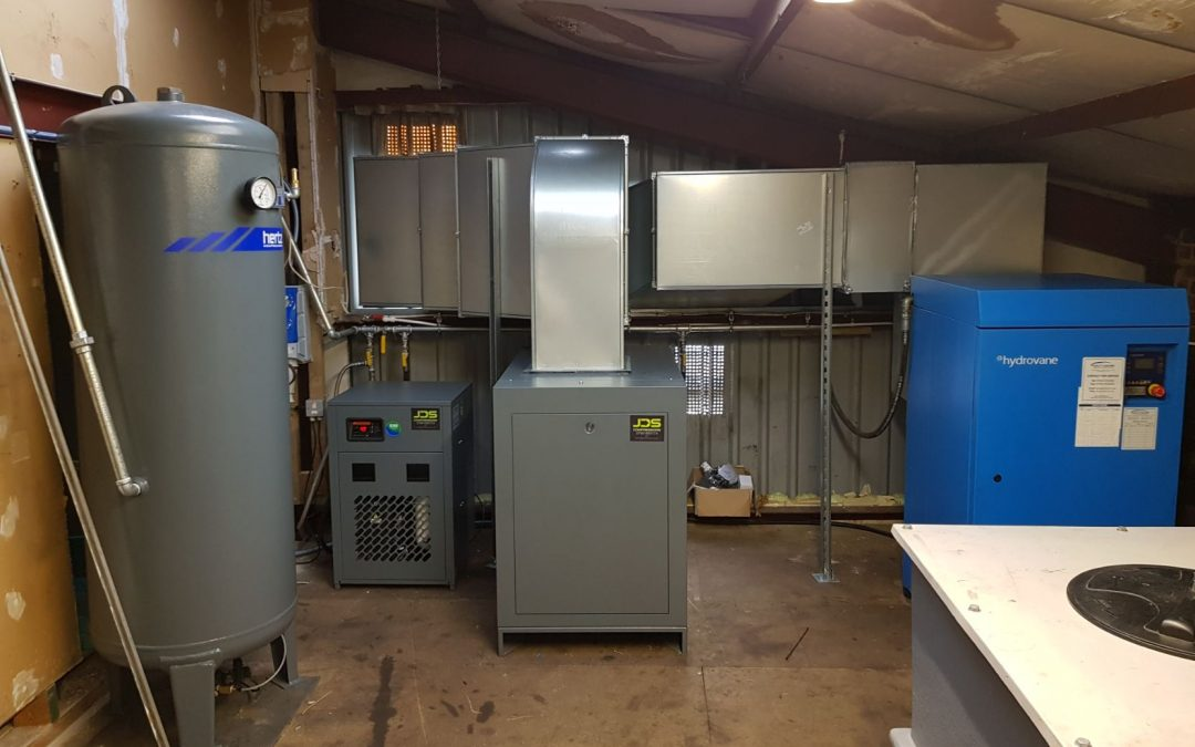New Air Compressor For Plastic Injection Moulding Company Camberley, Surrey